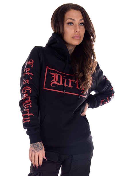 Dirty Dirty Unisex Hoodie, Black N Red