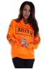 Dirty Dirty Unisex Hoodie, Neon Orange