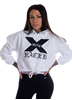 Dirty X-rated Cropped Hoodie, White