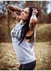 eXc Sleeveless Unisex Muscle Hoodie, Grey N Black