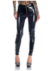Mix From Italy Black Zipped Latex Pants