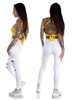 Mix From Italy Biker pants, White
