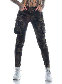 Mix From Italy Camo big pocket pants