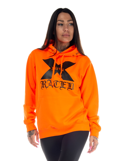 Dirty X-Rated Hoodie, Neon Orange