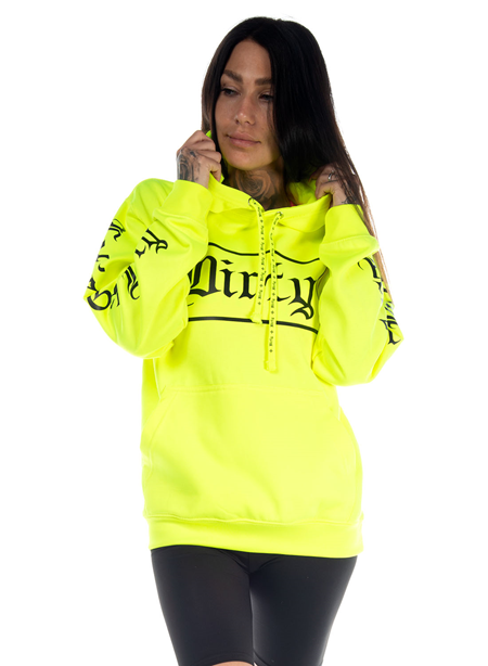 Dirty Unisex Hoodie, Neon Yellow