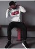 Dirty White N Red Unisex Hoodie