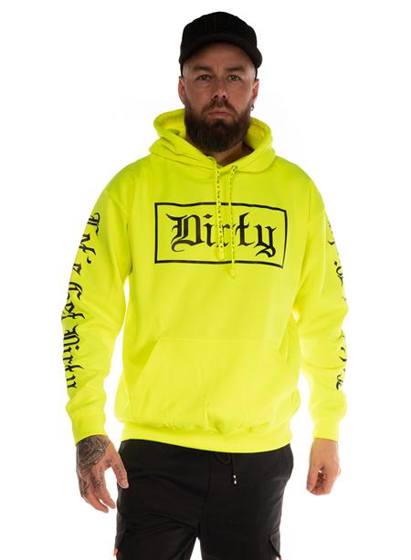 Dirty Herr Hoodie, Neon Yellow