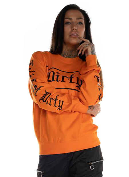 Dirty BF Fit Sweatshirt, Orange