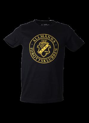 T-shirt svart allmänna rund stor