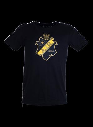 T-shirt svart sköld vuxen