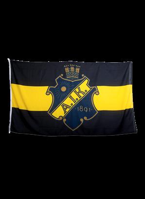 FLAGGSTÅNGSFLAGGA SVART/GUL