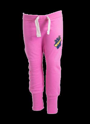 Sweatpants sköld rosa barn
