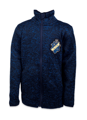 Navy stickad fleece barn