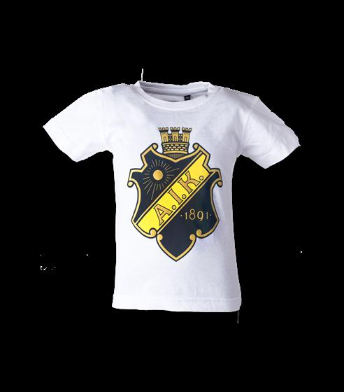 T-shirt vit sköld