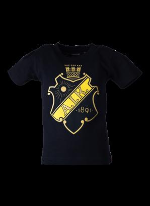 T-shirt svart sköld barn