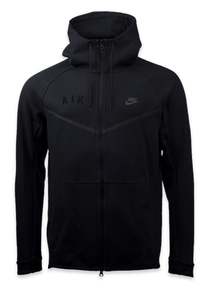 Nike tech-fleece ziphood svart AIK