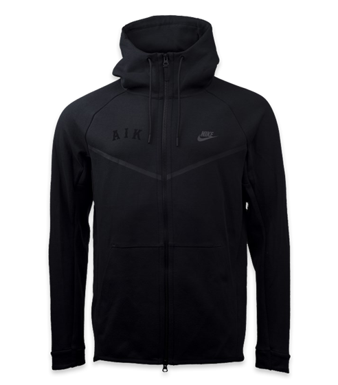 Nike techfleece ziphood svart