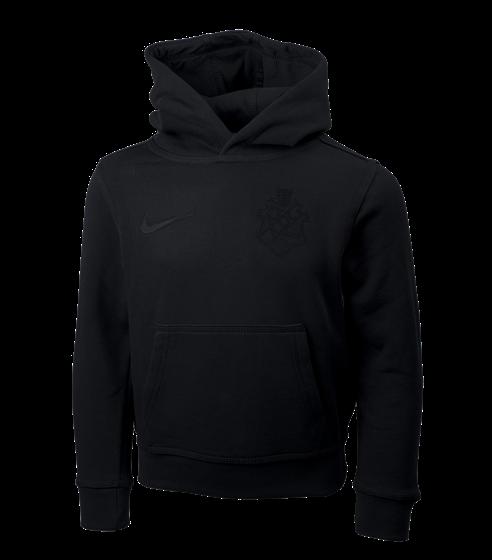 Nike hoody svart sköld barn