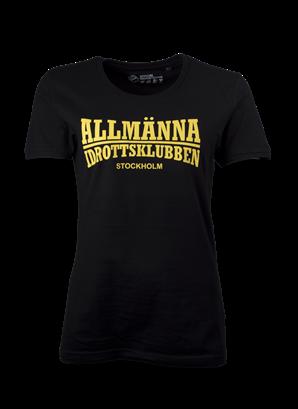 T-shirt svart Allmänna idrottsklubben DAM
