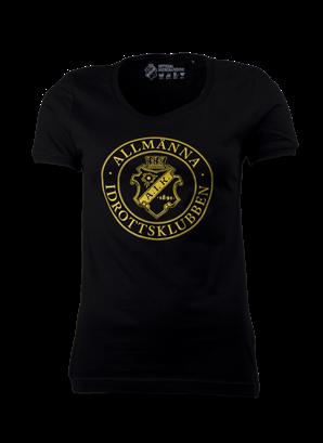 T-shirt svart Allmänna dam
