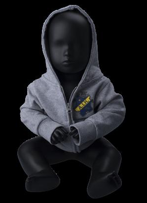 Ziphood grå sköld baby H17