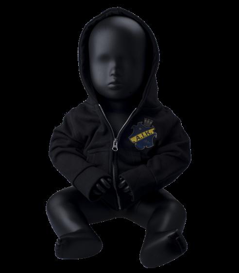 Ziphood svart sköld baby H17