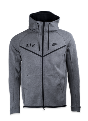 Nike techfleece ziphood grå