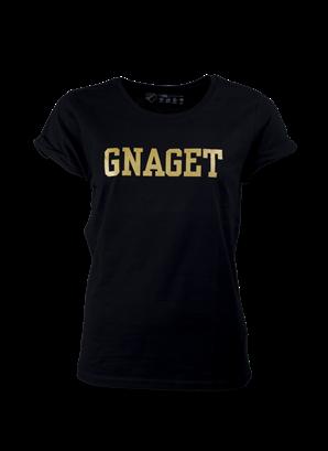 T-shirt guld gnaget dam