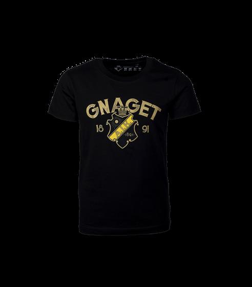 T-shirt svart/guld Gnaget barn