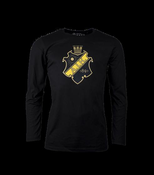 T-shirt Sköld svart lång ärm