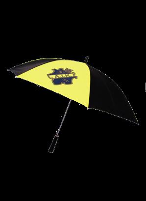 Paraply svart/gul