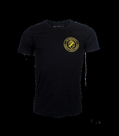 T-shirt svart rund märke, litet