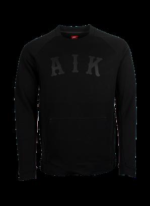 Nike sweatshirt techfleece svart AIK
