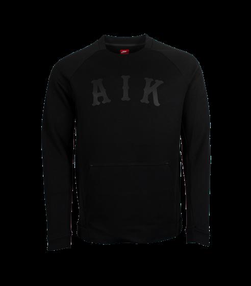 Nike sweatshirt svart med ficka AIK
