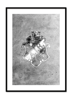 Poster AIK sköld stone art