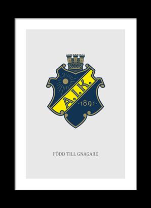 Poster AIK Sköld Född till Gnagare