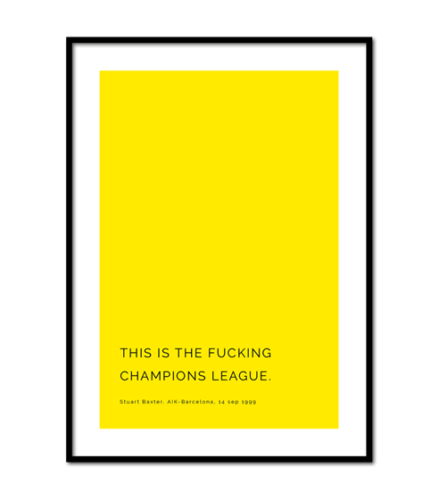Poster This is the champions league
