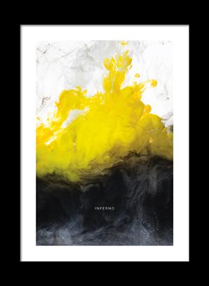 Poster Inferno med vit kant