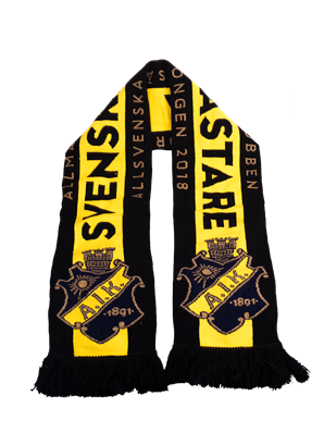Halsduk Svenska mästare sv/gul/guld