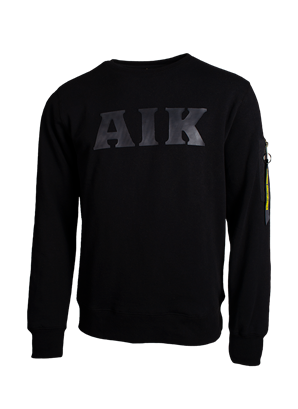 Sweatshirt svart AIK Armficka