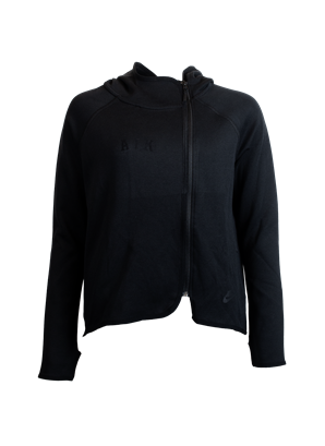Nike techfleece ziphood svart dam