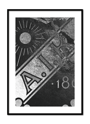 Poster AIK sköld- abstract rock