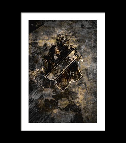 Poster AIK sköld- abstract art