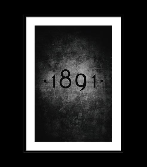 Poster 1891 Black