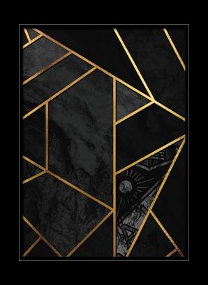 Poster Golden lines