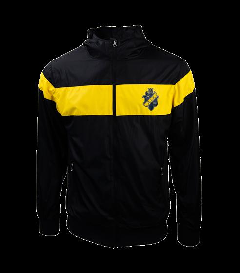 Vindjacka svart/gul