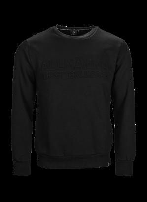 Sweatshirt svart allmänna embossed