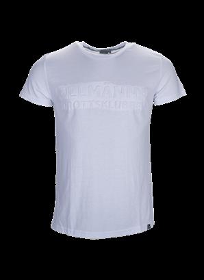 T-shirt vit allmänna embossed