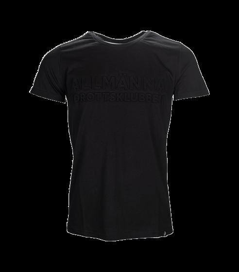 T-shirt svart allmänna embossed