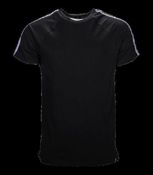 T-shirt svart allmänna stripe